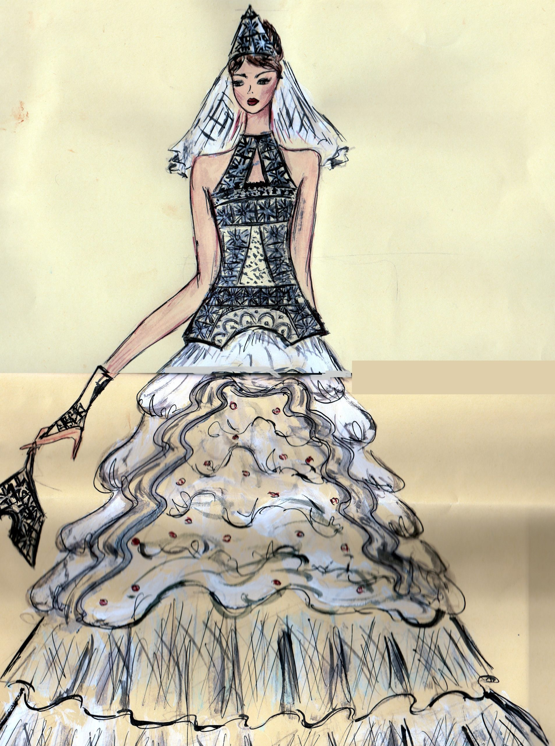 Croquis - Robe de mariee - AramisCouture